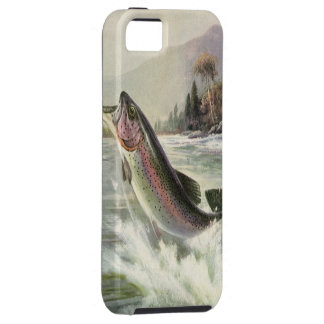 Vintage Rainbow Trout Fish, Fisherman Fishing iPhone SE/5/5s Case