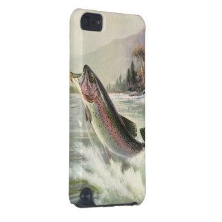 Vintage Rainbow Trout Fish, Fisherman Fishing iPod Touch (5th Generation) Case