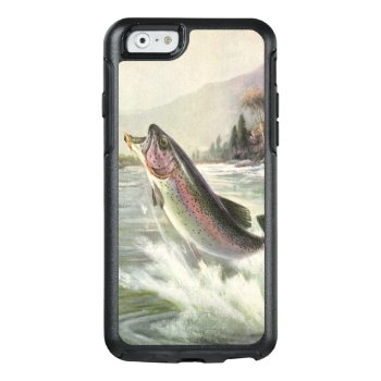 Vintage Rainbow Trout Fish  Fisherman Fishing Otterbox Iphone 6/6s Case by YesterdayCafe at Zazzle
