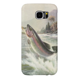 Vintage Rainbow Trout Fish, Fisherman Fishing Samsung Galaxy S6 Case