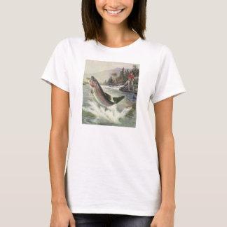 Vintage Rainbow Trout Fish, Fisherman Fishing T-Shirt