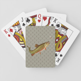 Vintage rainbow trout fly fishing deck of cards
