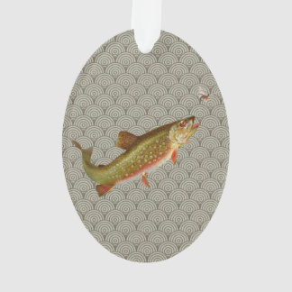 Vintage rainbow trout fly fishing ornament