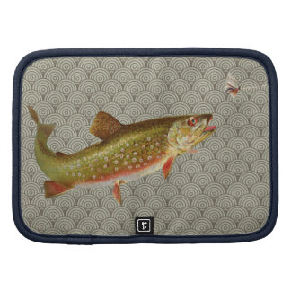 Vintage rainbow trout fly fishing planner