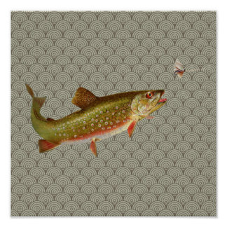 Vintage fly fishing posters zazzle for Fly fishing posters