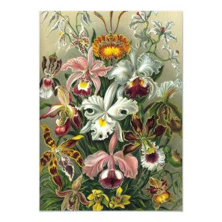 Vintage Rainforest Orchids, Flowers, Ernst Haeckel 5x7 Paper Invitation Card