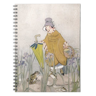 Vintage Rainy Day Frog Notebook