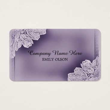 Professional Business Vintage Raised Floral Business Card