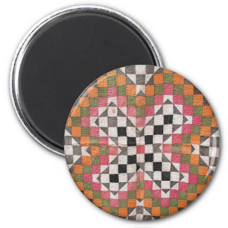 Vintage Ralli Quilt Orange Magnet