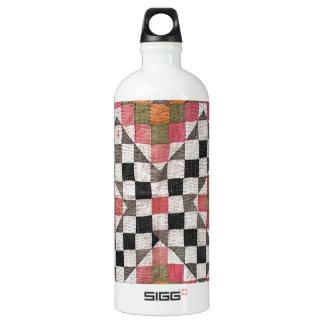 Vintage Ralli Quilt Orange Water Bottle