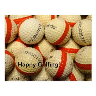 Vintage - Range Golf balls Postcard