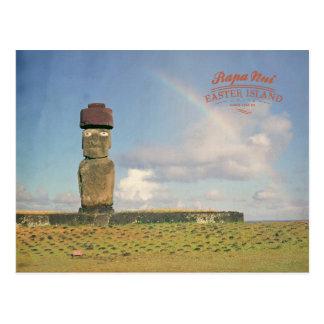 Vintage Rapa Nui (Easter island) Chile Postcard
