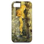 Vintage Rapunzel. Princesa con el pelo rubio largo iPhone 5 Case-Mate Carcasas
