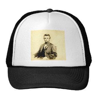 VINTAGE RARO de presidente Abraham Lincoln Gorros Bordados