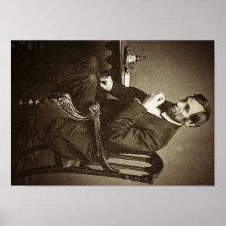 VINTAGE RARO de presidente Abraham Lincoln Póster