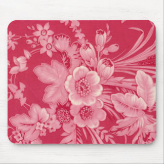 Vintage Raspberry Red Floral Mousepads