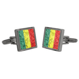 Vintage rasta flag cufflinks