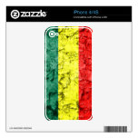 Vintage rasta flag decals for iPhone 4S