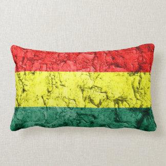 Vintage rasta flag lumbar pillow