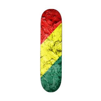 Vintage rasta flag skate board