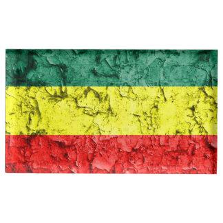 Vintage rasta flag table number holder
