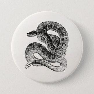 Vintage Rattlesnake Reptile Snake Template Button