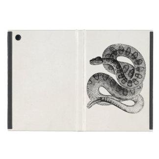 Vintage Rattlesnake Reptile Snake Template iPad Mini Case