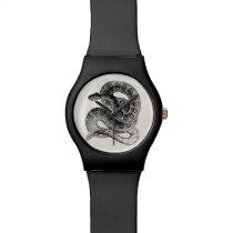 Vintage Rattlesnake Reptile Snake Template Watch