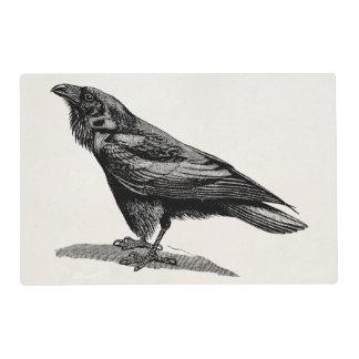 Vintage Raven Crow Blackbird Bird Illustration Placemat