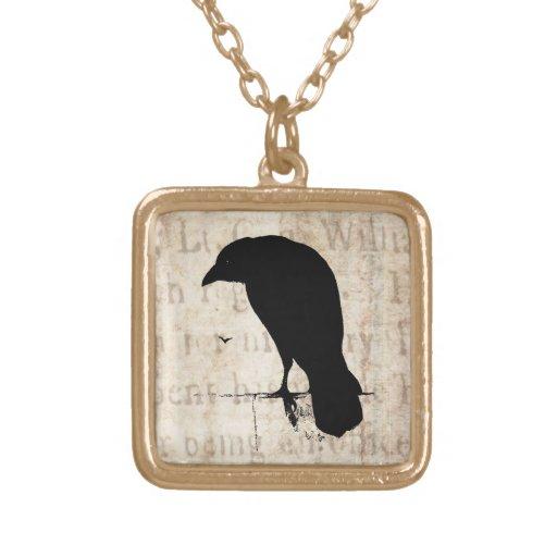 Vintage Raven - Custom Goth Crows Ravens Pendants