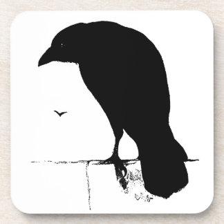 Vintage Raven - Customized Goth Crows Ravens Coaster