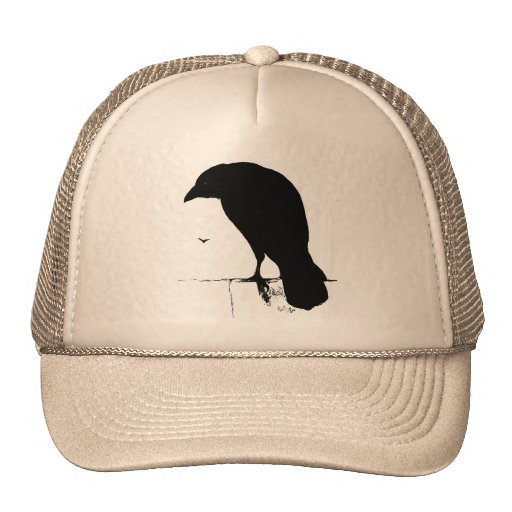 Vintage Raven - Customized Goth Crows Ravens Hat