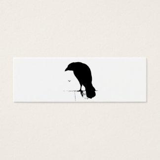 Vintage Raven - Customized Goth Crows Ravens Mini Business Card