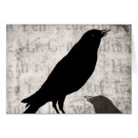 Vintage Raven Goth Collage Customized Birds Crow Stationery Note Card