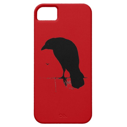Vintage Raven on Blood Red Template iPhone SE/5/5s Case