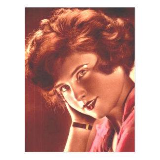 Vintage Ravishing Redhead Postcard