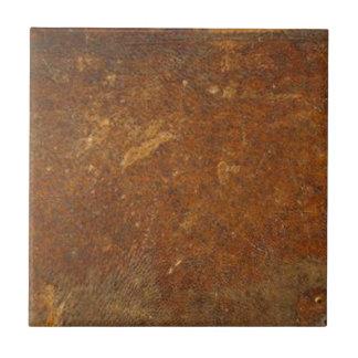 VINTAGE RAW Leather Art Ceramic Tiles