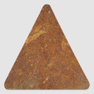 VINTAGE RAW Leather Art Triangle Sticker