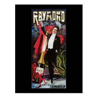 Vintage Raymond el gran poster de la publicidad Postales