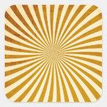Vintage Rays Design Square Sticker