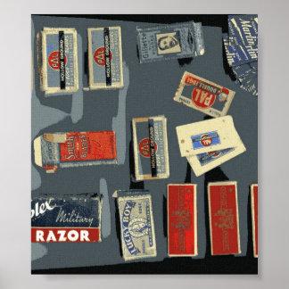 Vintage Razor Blade Brands Print
