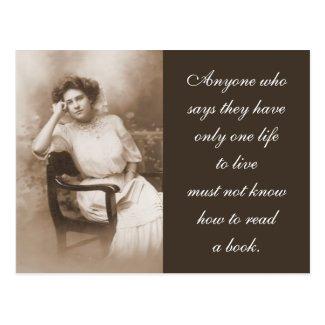 Vintage Reader Photography Post Card