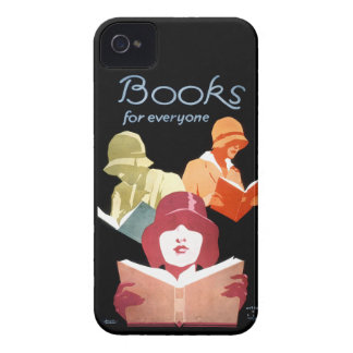 Vintage Reading Ad Books For Everyone Deco iPhone 4 Case-Mate Cases