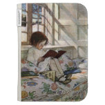 Vintage Reading Girl Kindle 3 Cover