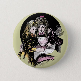 Vintage Reading - Mom and daughter Button