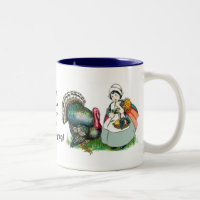 Vintage Ready For Thanksgiving Two-Tone Coffee Mug