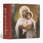 Vintage Realism, Madonna of the Roses, Bouguereau 3 Ring Binder