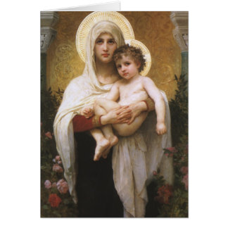 Vintage Realism, Madonna of the Roses, Bouguereau Card