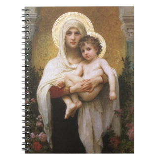 Vintage Realism, Madonna of the Roses, Bouguereau Notebook
