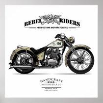 Vintage Rebel Riders Chopper Motorcycle